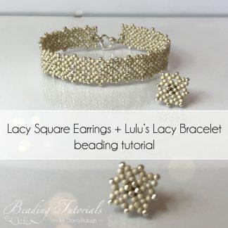 beading tutorial lacy bracelet, Lulu's Lacy Bracelet by Diána Balogh