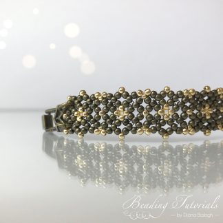 seed bead beading tutorial, Lulu's Lacy bracelet