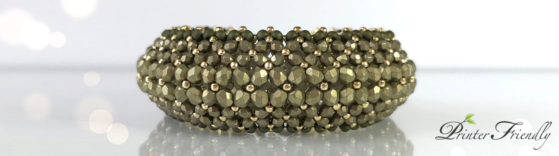 flat chenille bracelet tutorial Puffy Bracelet