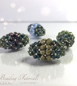 Ramya beaded bead beading tutorial, beading pattern by Diána Balogh