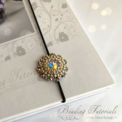 bookmark beading tutorial, Keya pendant beading pattern by Diána Balogh