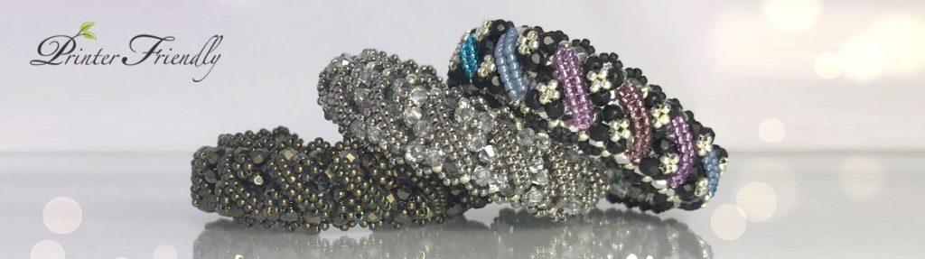 bracelet beading tutorial, Andrea bracelet by Diána Balogh