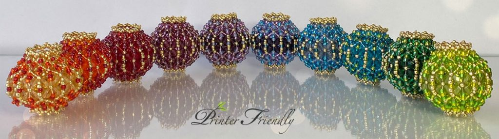 beaded beads beading tutorial with Flat Chenille Stitch by Diána Balogh