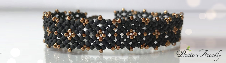 Lulu's Lacy Bracelet seed bead beading tutorial