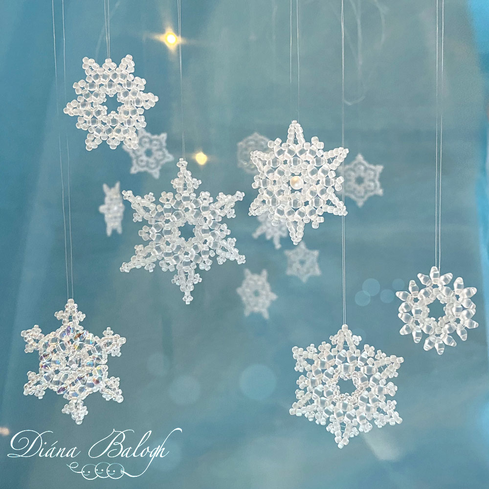 Beading pattern collection snowflakes, beading book