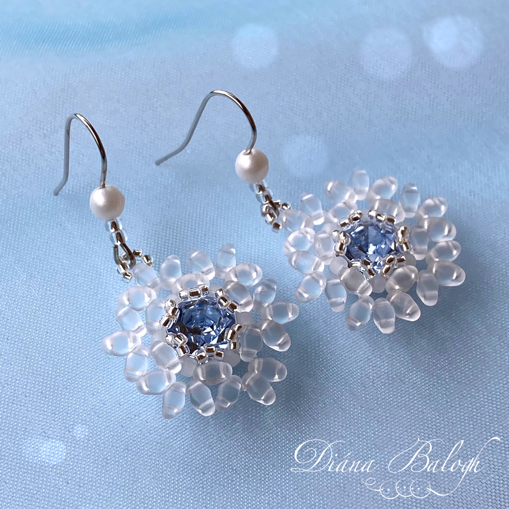 beading tutorial stellar snowflake earrings