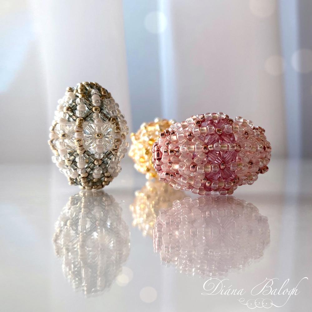 Chrysalis beaded bead by Diána Balogh