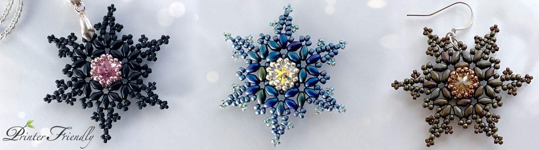beading tutorial fernlike stellar snowflake